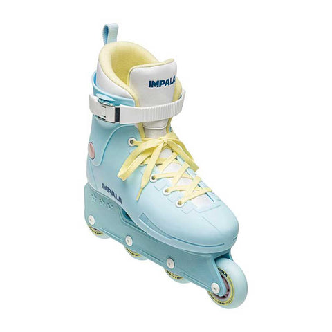 Impala Lightspeed Inline Skate - Sky Blue/Yellow front