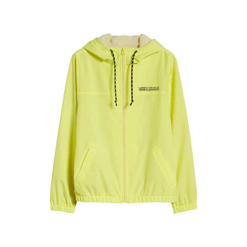 Vans Women's Kastle Turvey Windbreaker - Lemon front