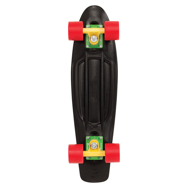 "Penny Original 22"" Cruiser Skateboard Complete - Rasta - Bottom"