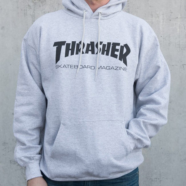 Thrasher Skate Magazine Hood - Grey