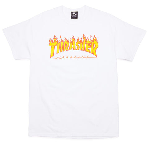 Thrasher Skate Flame Tee - White