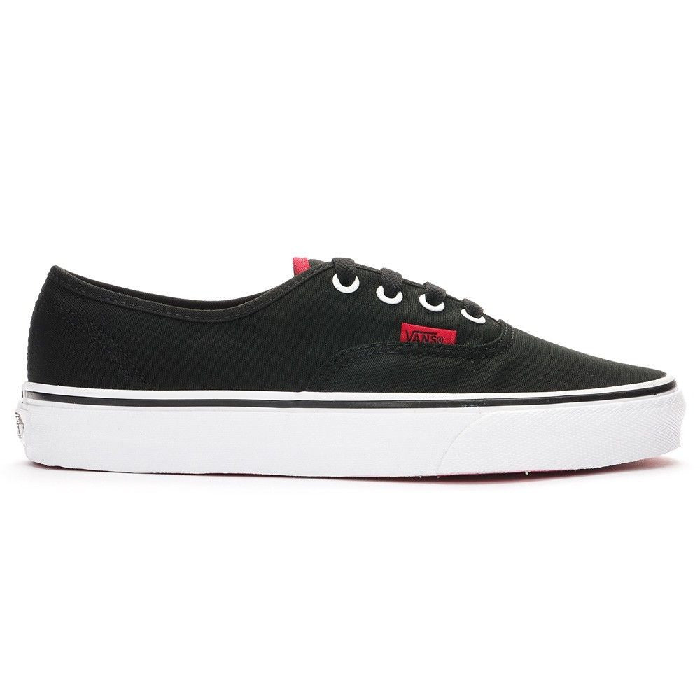 9f09e44ec88e Vans Authentic Shoes - (Pop) Black Chinese Red Outer Side
