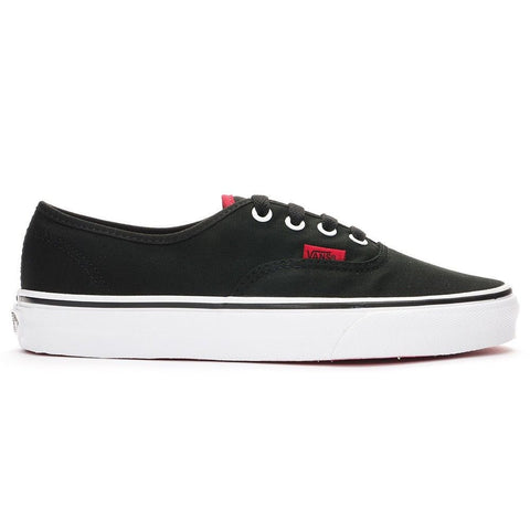 Vans Authentic Shoes - (Pop) Black/Chinese Red Outer Side