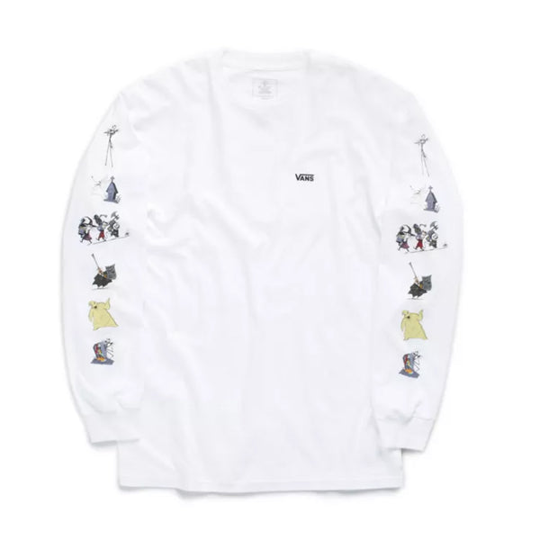Vans x Nightmare Before Christmas Characters LS Tee - White Front