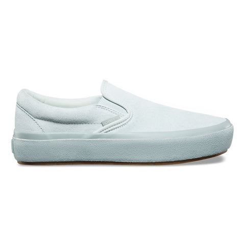 Vans Women's Classic Slip on Platform - Blue Flower/Metal