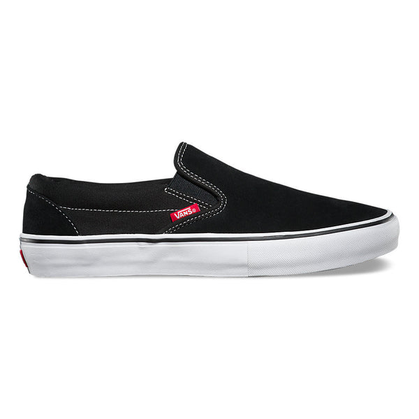 Vans Slip-on Pro Skate Shoes - Black/White/Gum - Outside