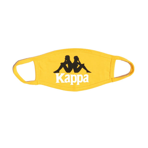 Kappa Authentic Wikt Face Mask - Yellow