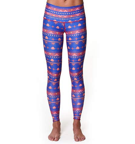 Guns & Roses Blue Leggings