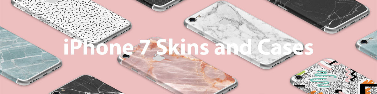 iPhone 7 Skins and Cases Banner
