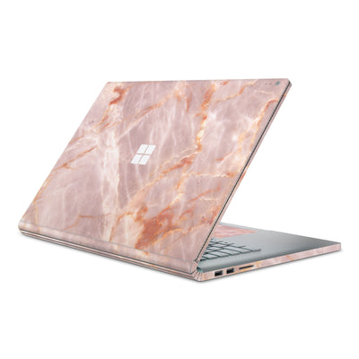 Blush Marble Surface Book 2 Full Coverage Skin