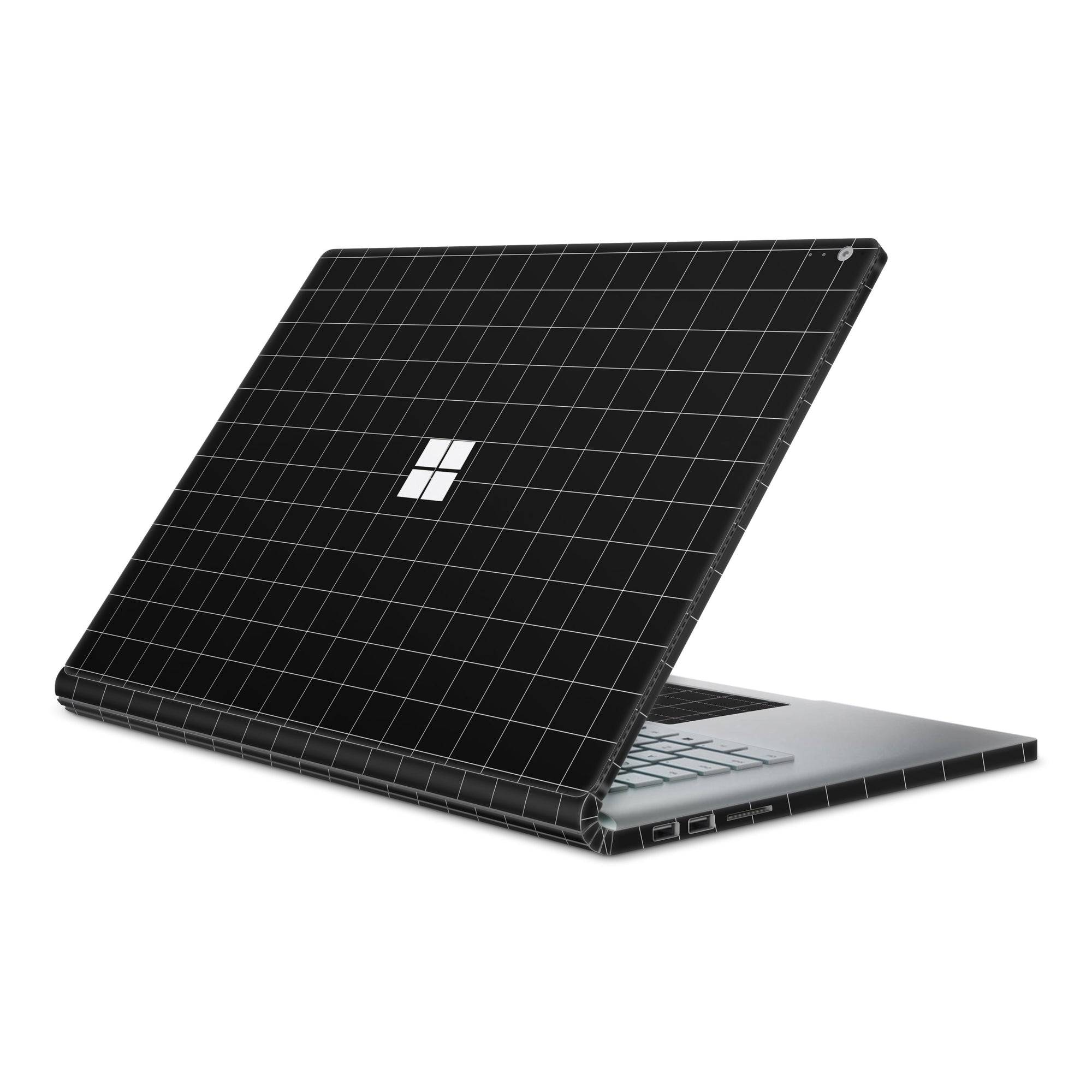 Black Grid Line Surface Book 2 Full Coverage Skin