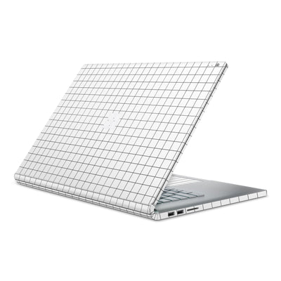 White Grid Line Surface Book 2 Full Coverage Skin