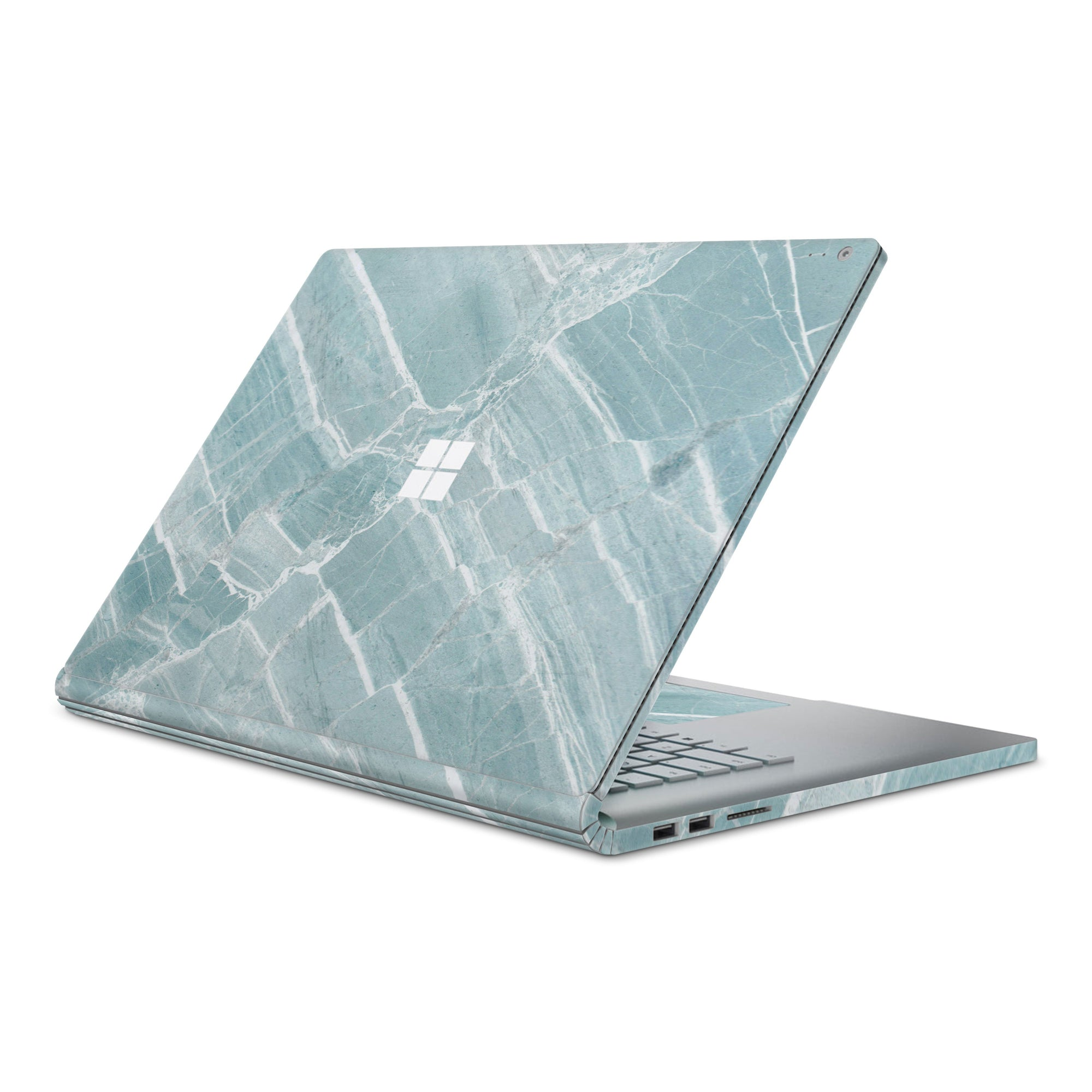 Mint Marble Surface Book 2 Full Coverage Skin