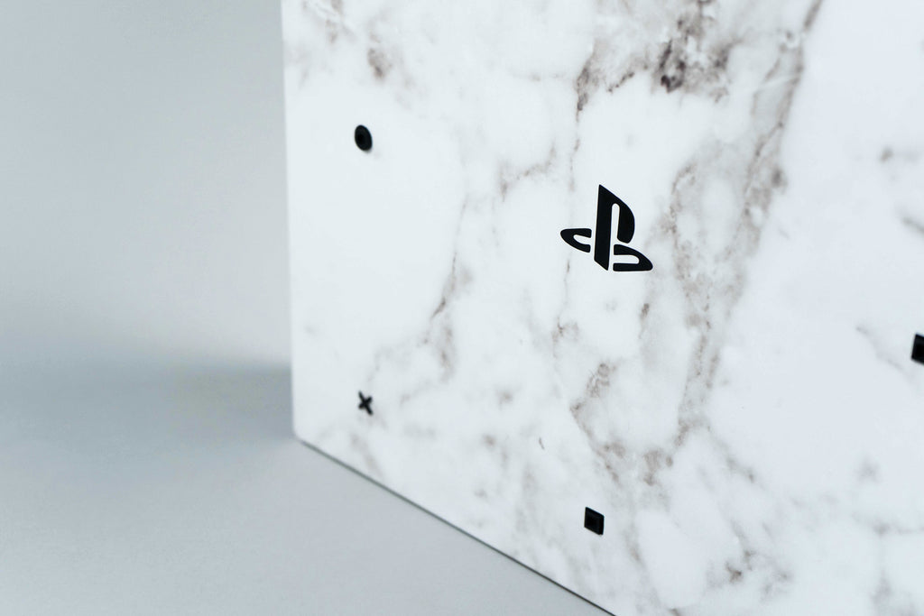 White Marble Playstation 4 Pro Skin