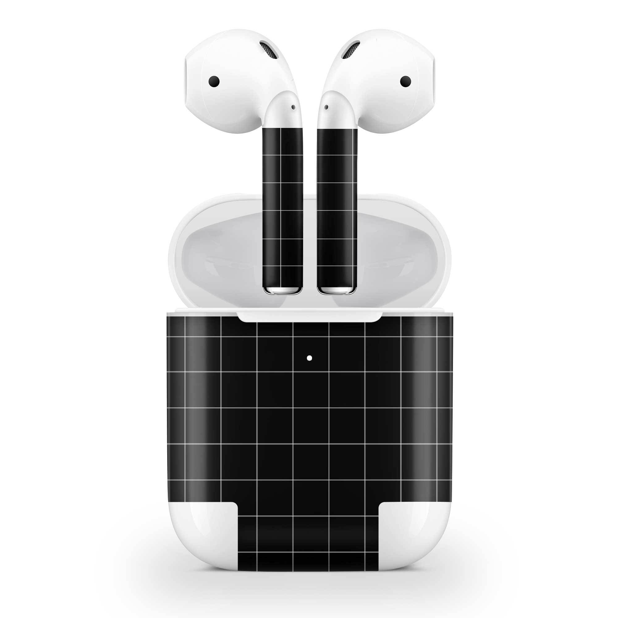 Black Grid Line AirPods (Wireless Charging) Skin