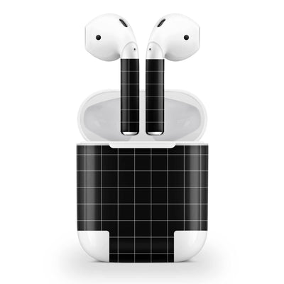 Black Grid Line AirPods (No Wireless Charging) Skin