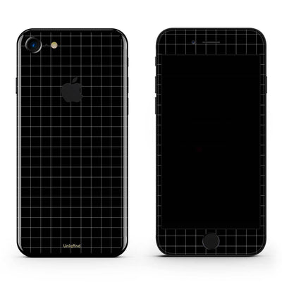 Black Grid Line iPhone 5C Skin + Case