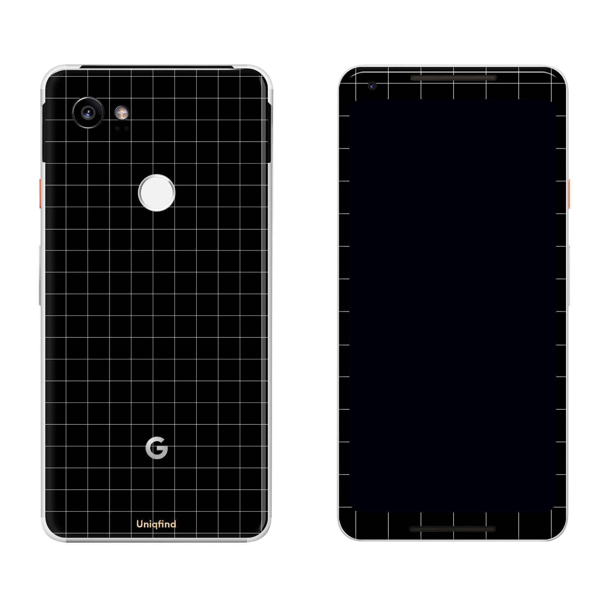 Black Grid Line Pixel 2 XL Skin + Case