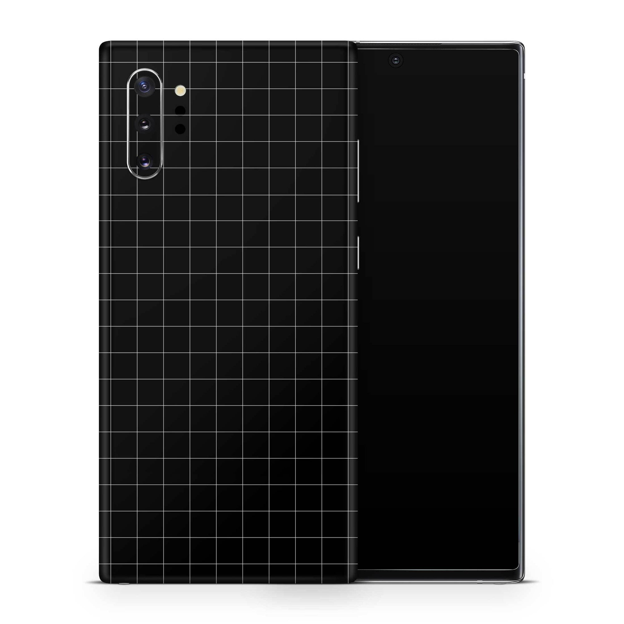 Black Grid Line Galaxy Note 10 Skin + Case