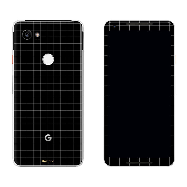 Black Grid Line Pixel 2 and Pixel 2 XL Skin
