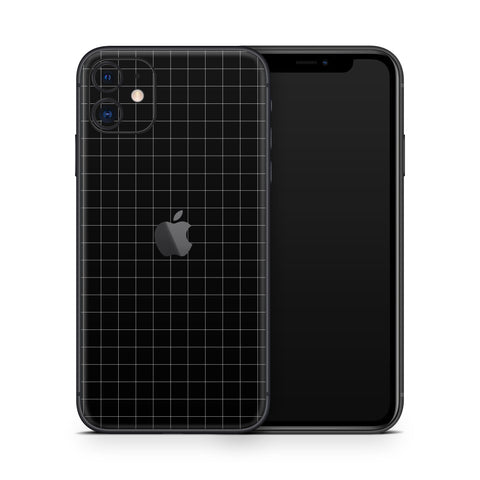 Black Grid Line iPhone 11 Skin