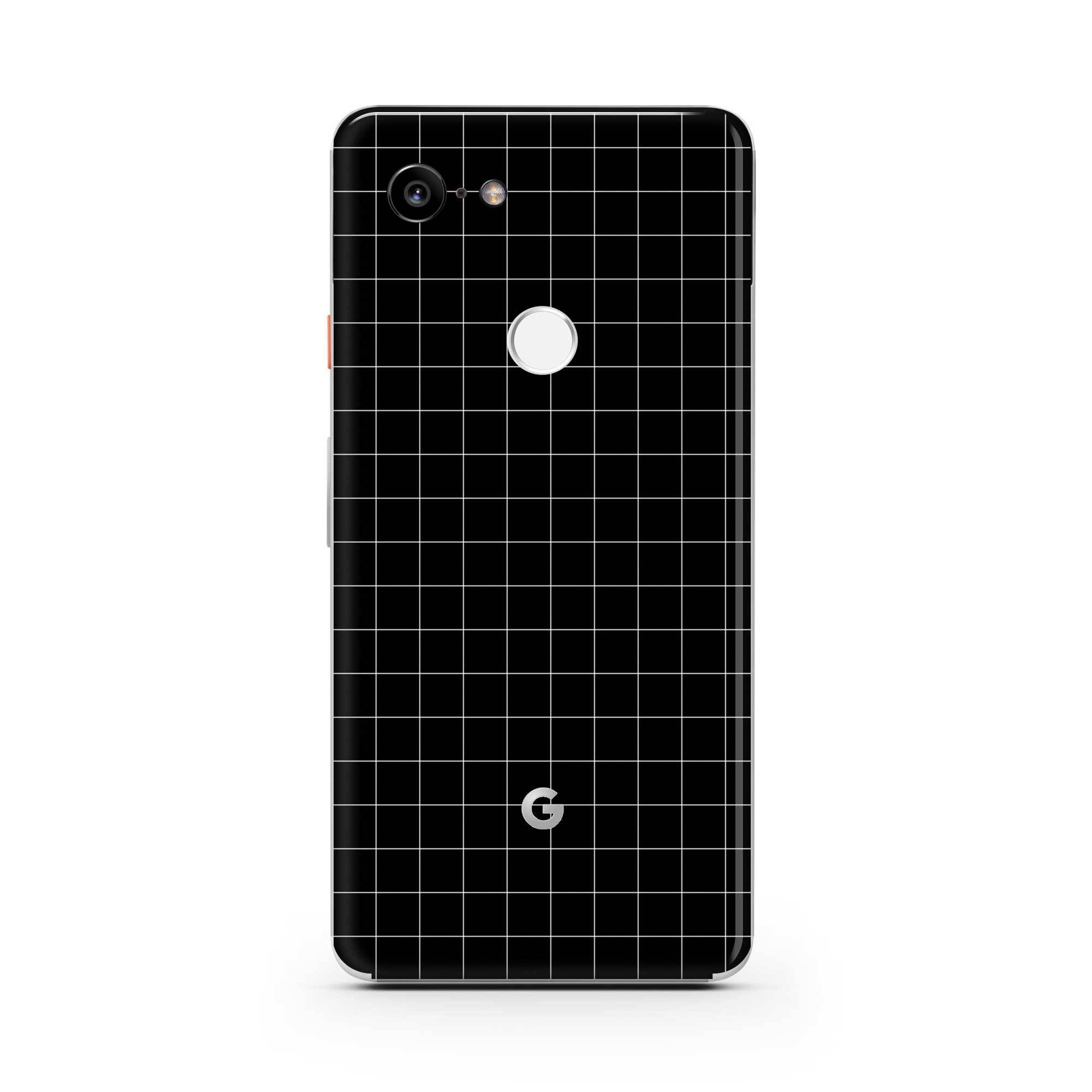 Black Grid Line Pixel 3a XL Skin + Case