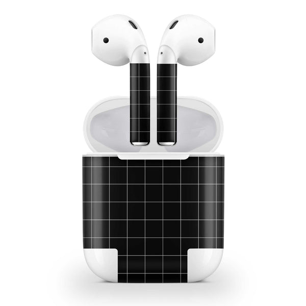 Black Grid Line AirPods Skin