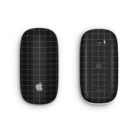 Black Grid Line Magic Mouse 2 Skin