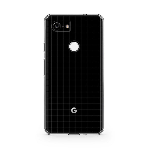 Black Grid Pixel 3, Pixel 3 XL, Pixel 3a and Pixel 3a XL Case