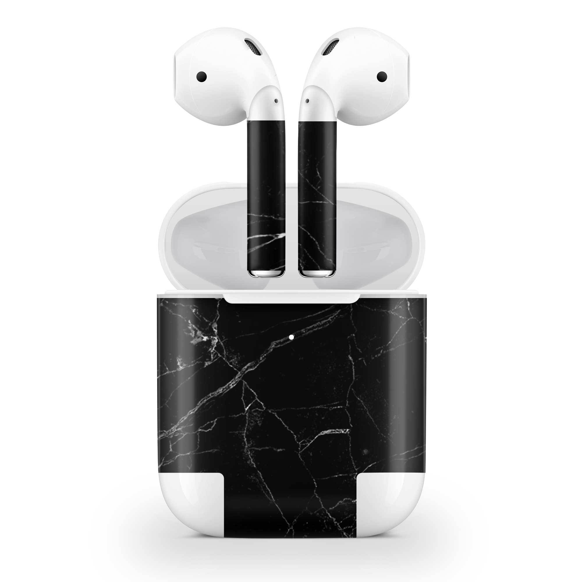 Black Marble Skin AirPods Wireless Charging Case