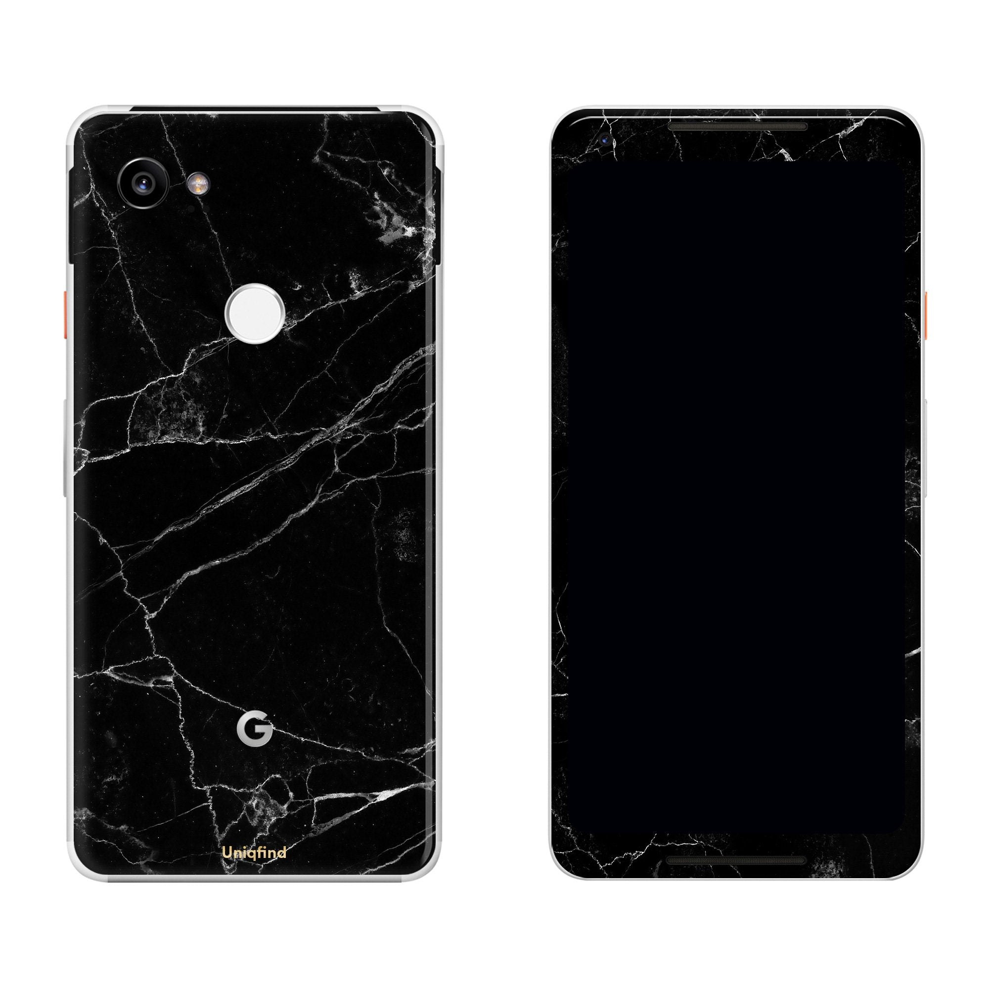 Black Marble Pixel 2 XL Skin + Case