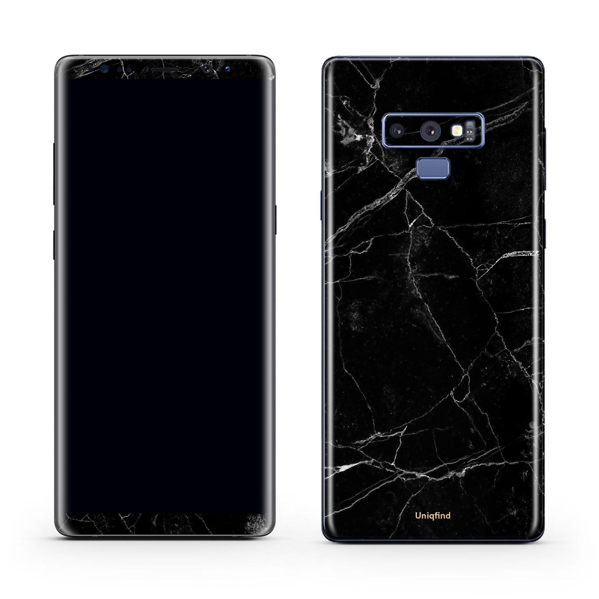Black Marble Galaxy Note 9 Skin + Case