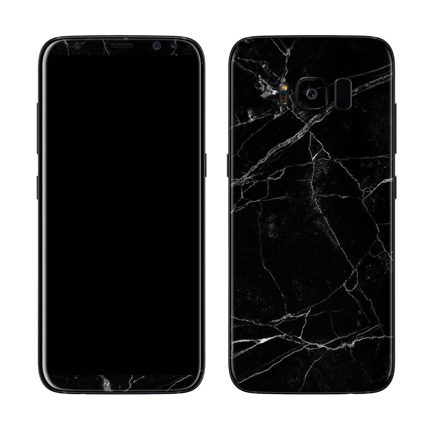 Black Marble Galaxy S8 Skin + Case