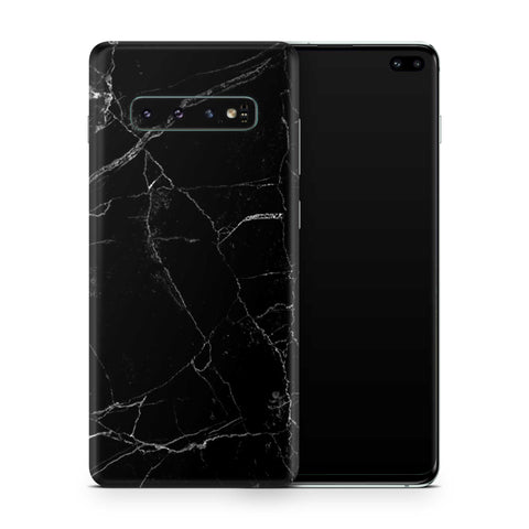 Black Marble Skin Samsung S10 and S10 Plus and S10e