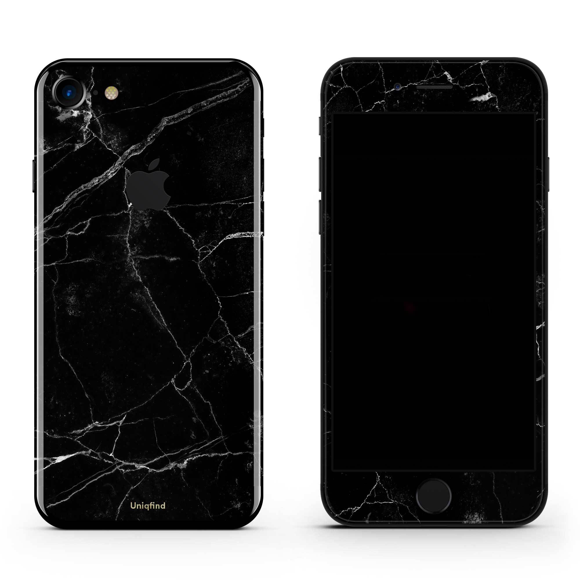 Black Marble iPhone 8 Skin + Case