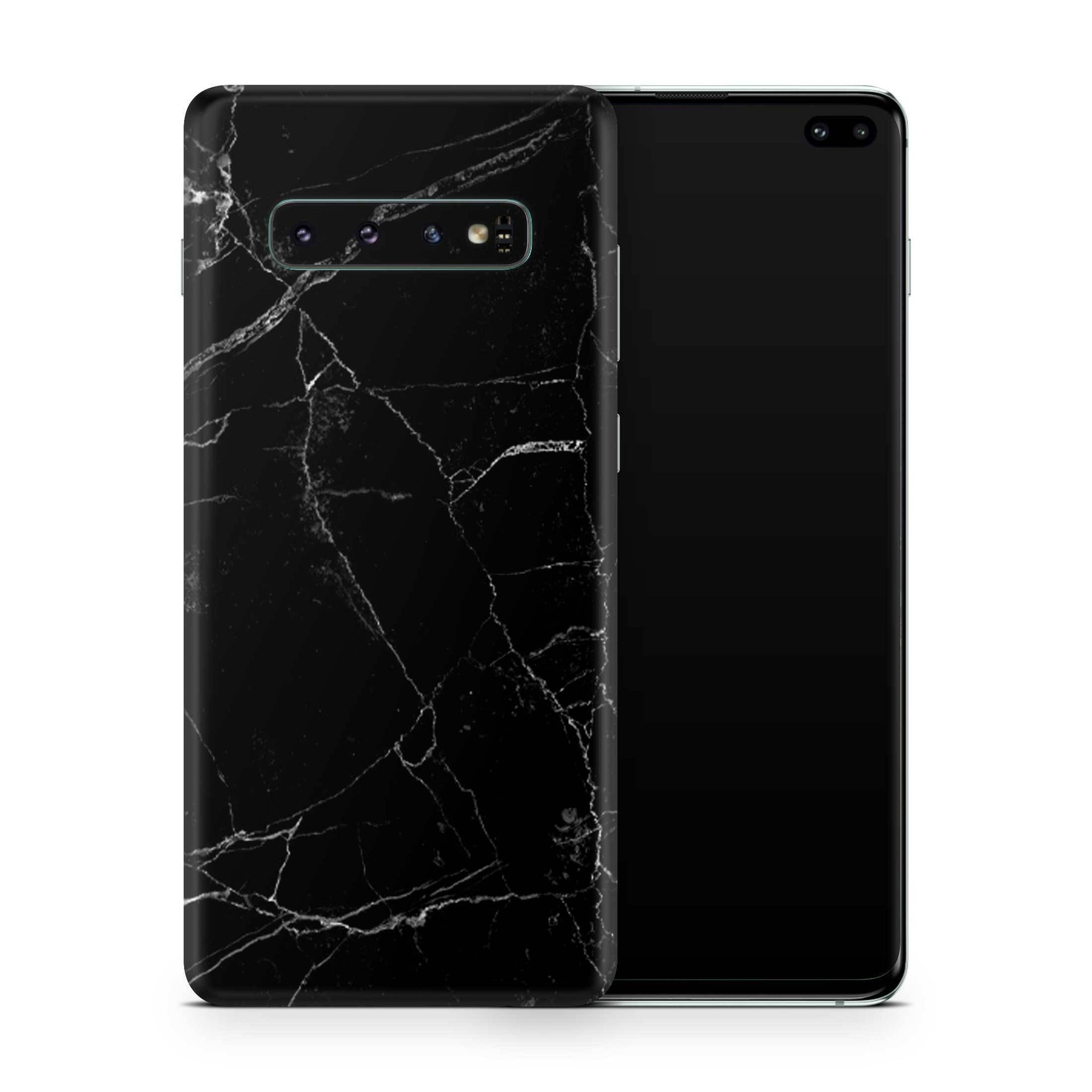 Black Marble Galaxy S10e Skin + Case
