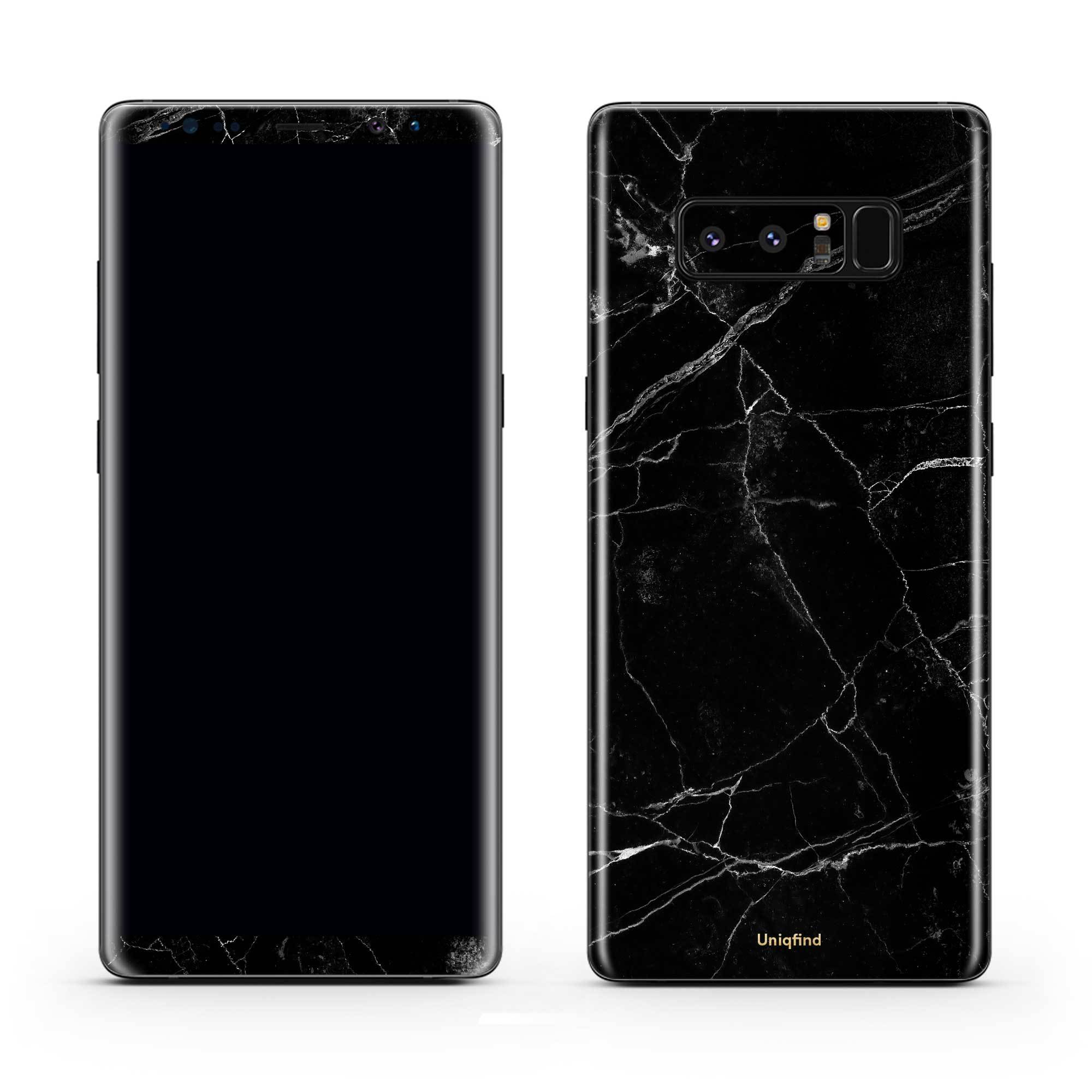 Black Marble Galaxy Note 8 Skin + Case