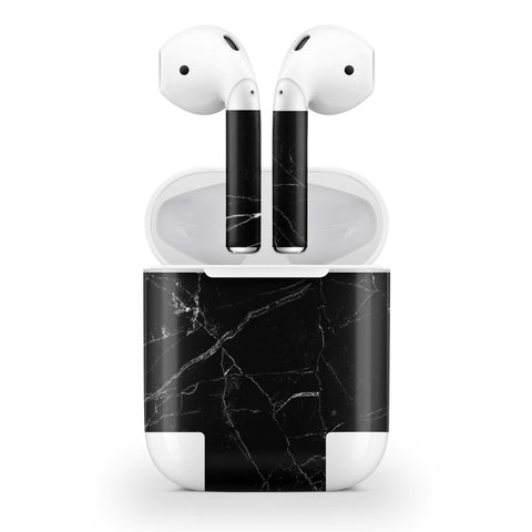 Black Marble Skin AirPods