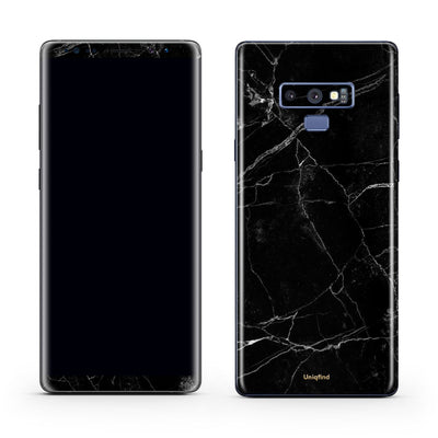 Black Marble Skin and Case for Note 9
