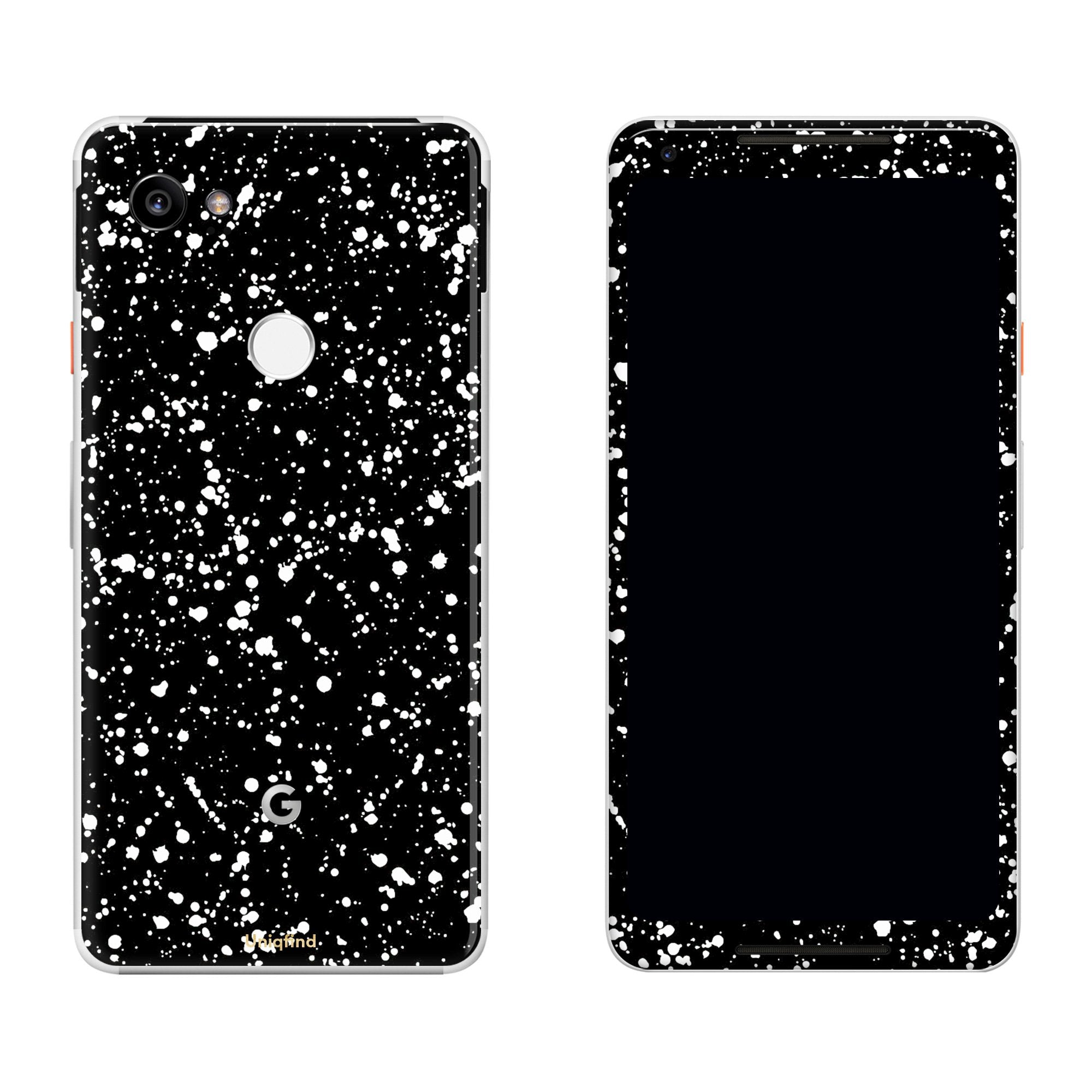 Black Speckle Pixel 2 XL Skin + Case