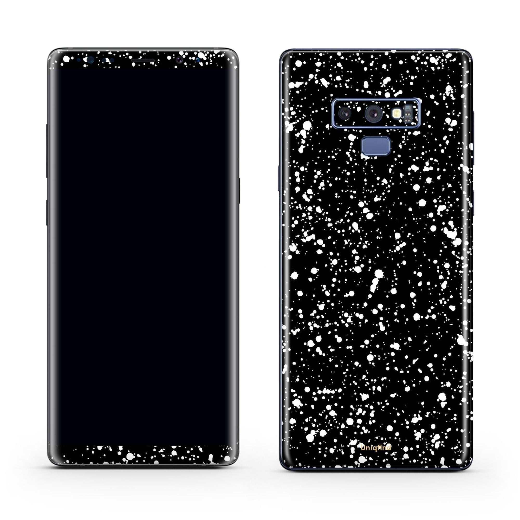 Black Speckle Galaxy Note 9 Skin + Case