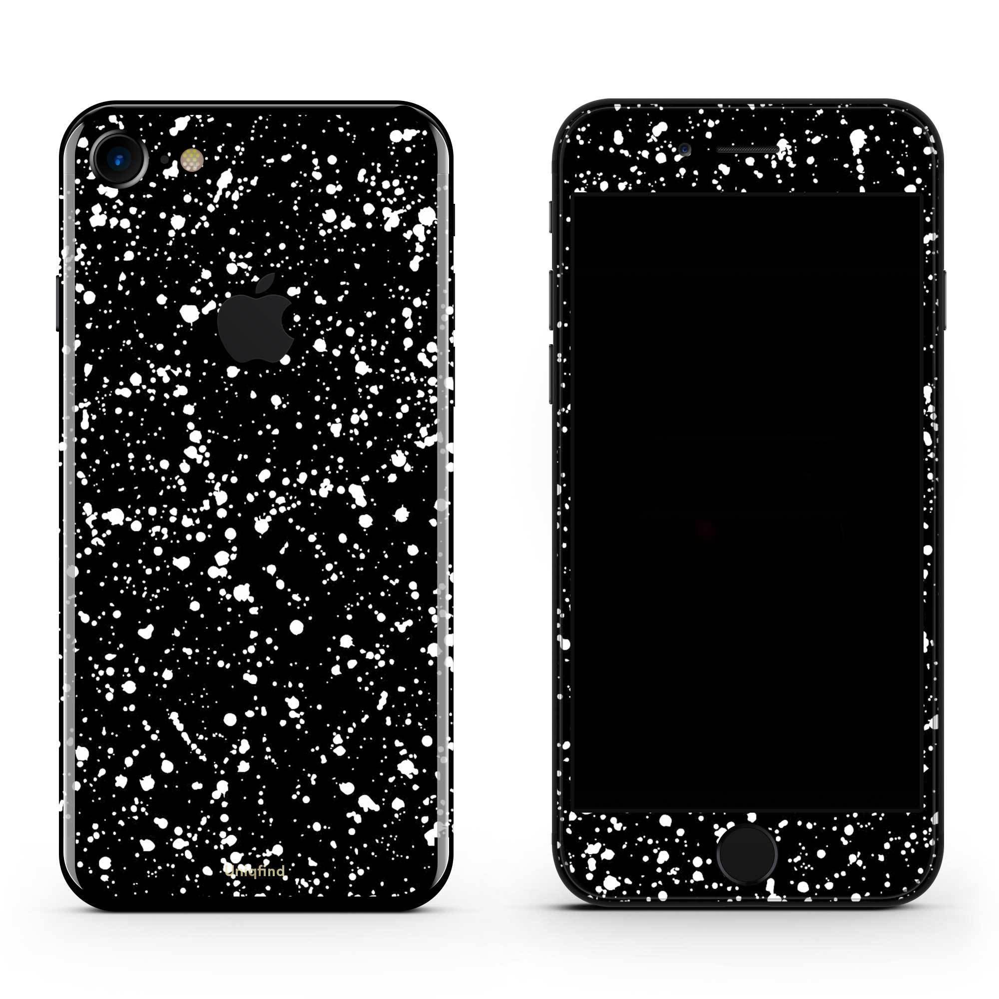 Black Speckle iPhone 8 Skin + Case