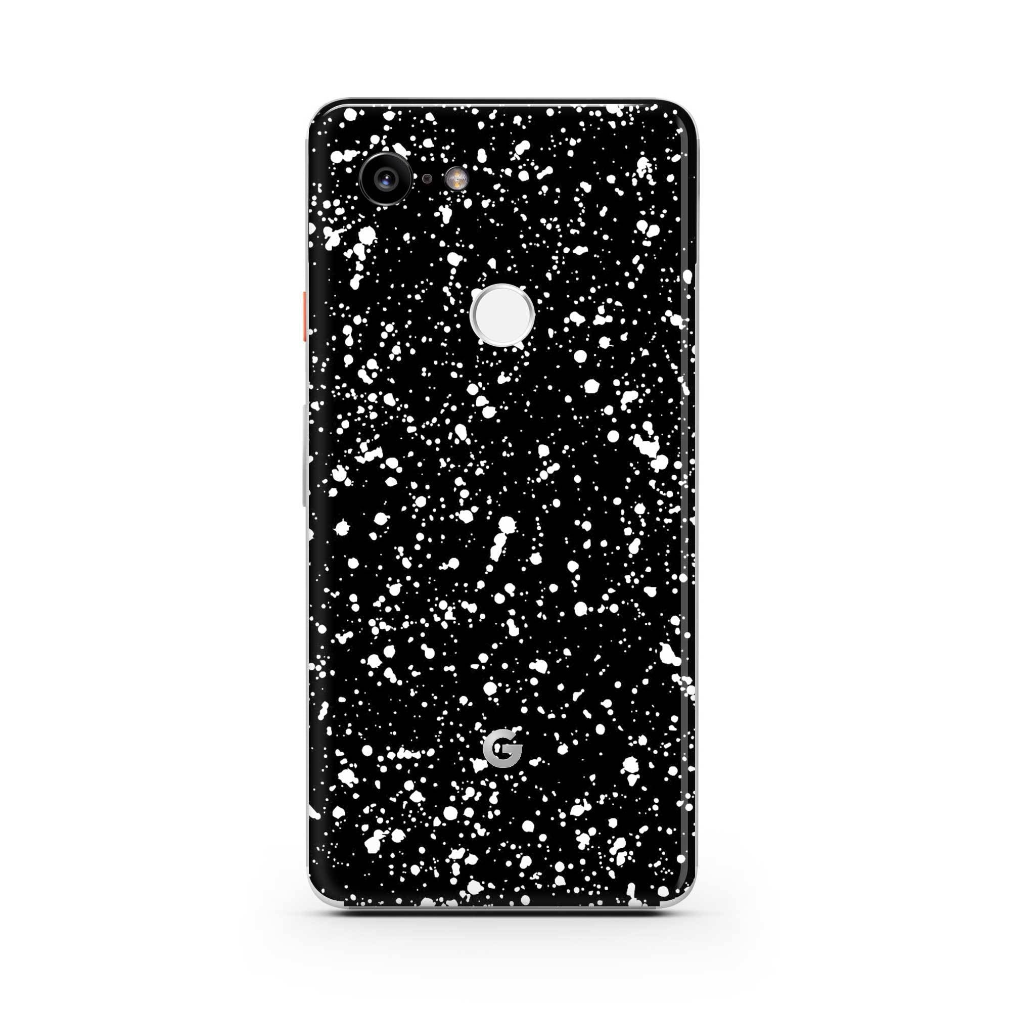 Black Speckle Pixel 3a XL Skin + Case
