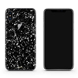 iPhone X skin in Black Speckle