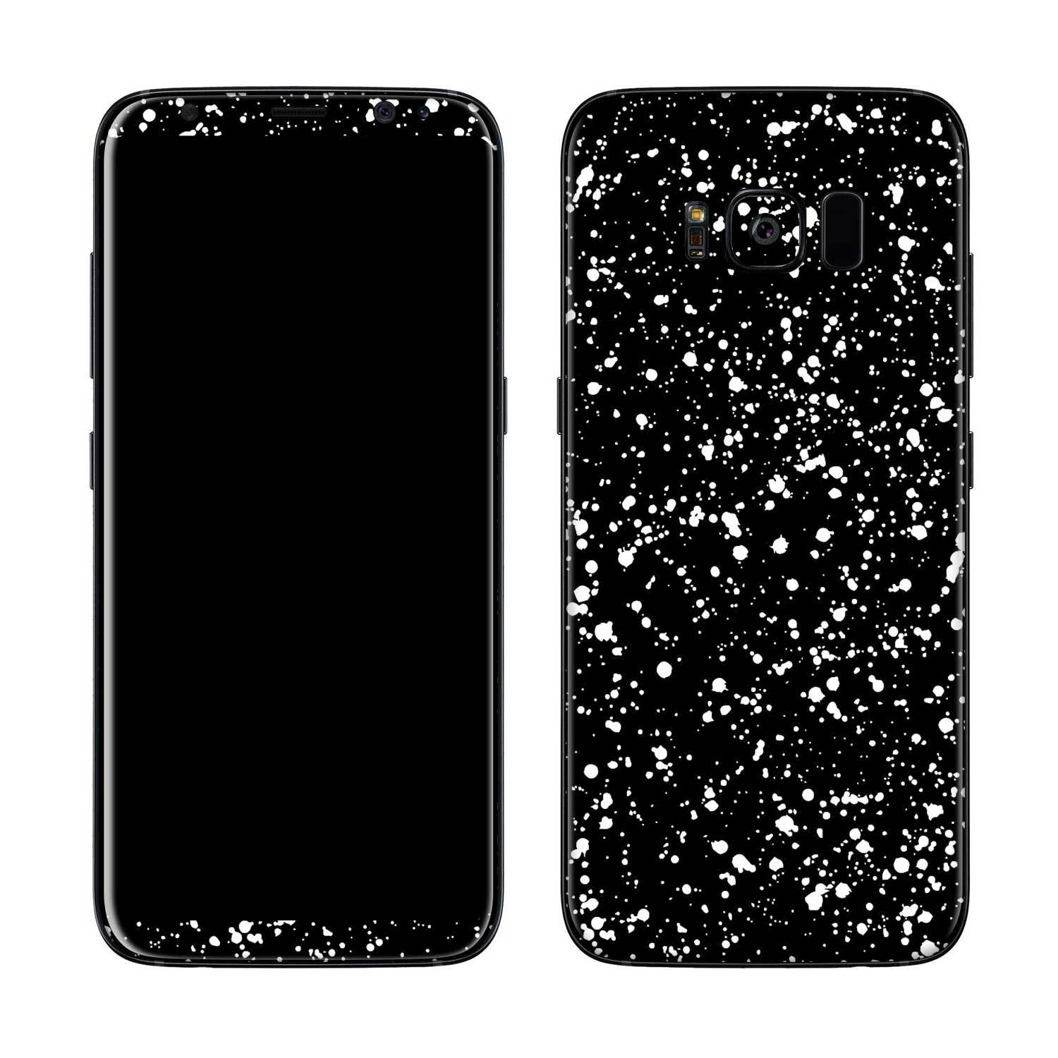 Black Speckle Galaxy S8 Plus Skin + Case
