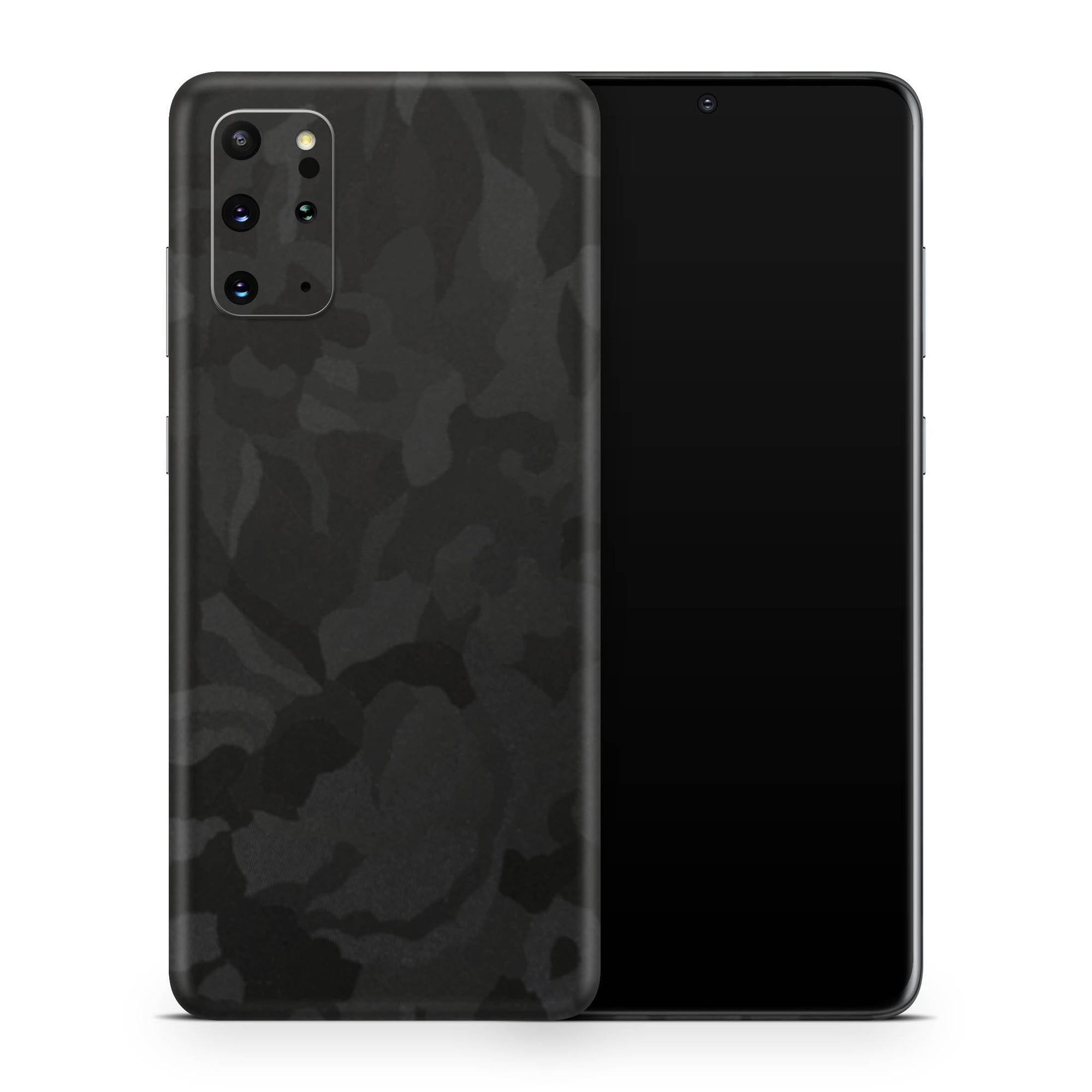 Black Camo Galaxy S20 Plus Skin + Case-Uniqfind