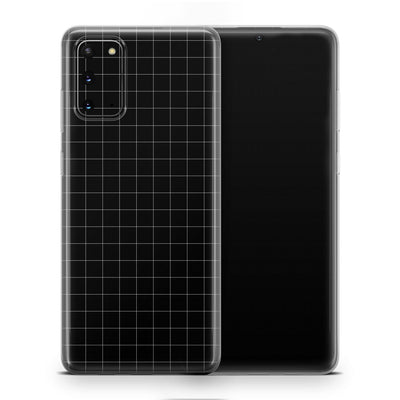 Black Grid Line Galaxy S20 Skin + Case-Uniqfind
