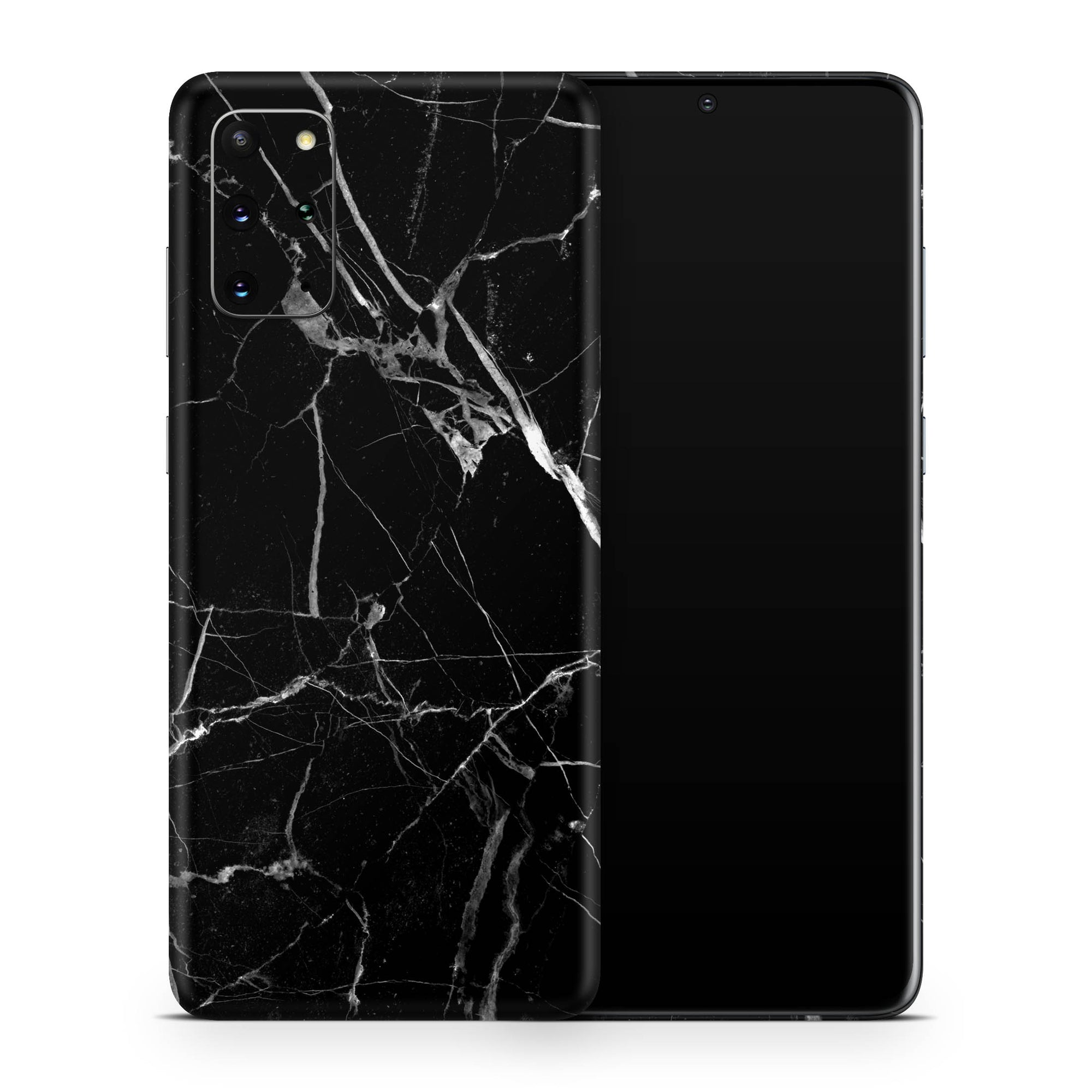 Black Hyper Marble Galaxy S20 Ultra Skin + Case-Uniqfind