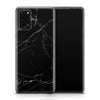 Black Marble Galaxy S20 Plus Skin + Case-Uniqfind