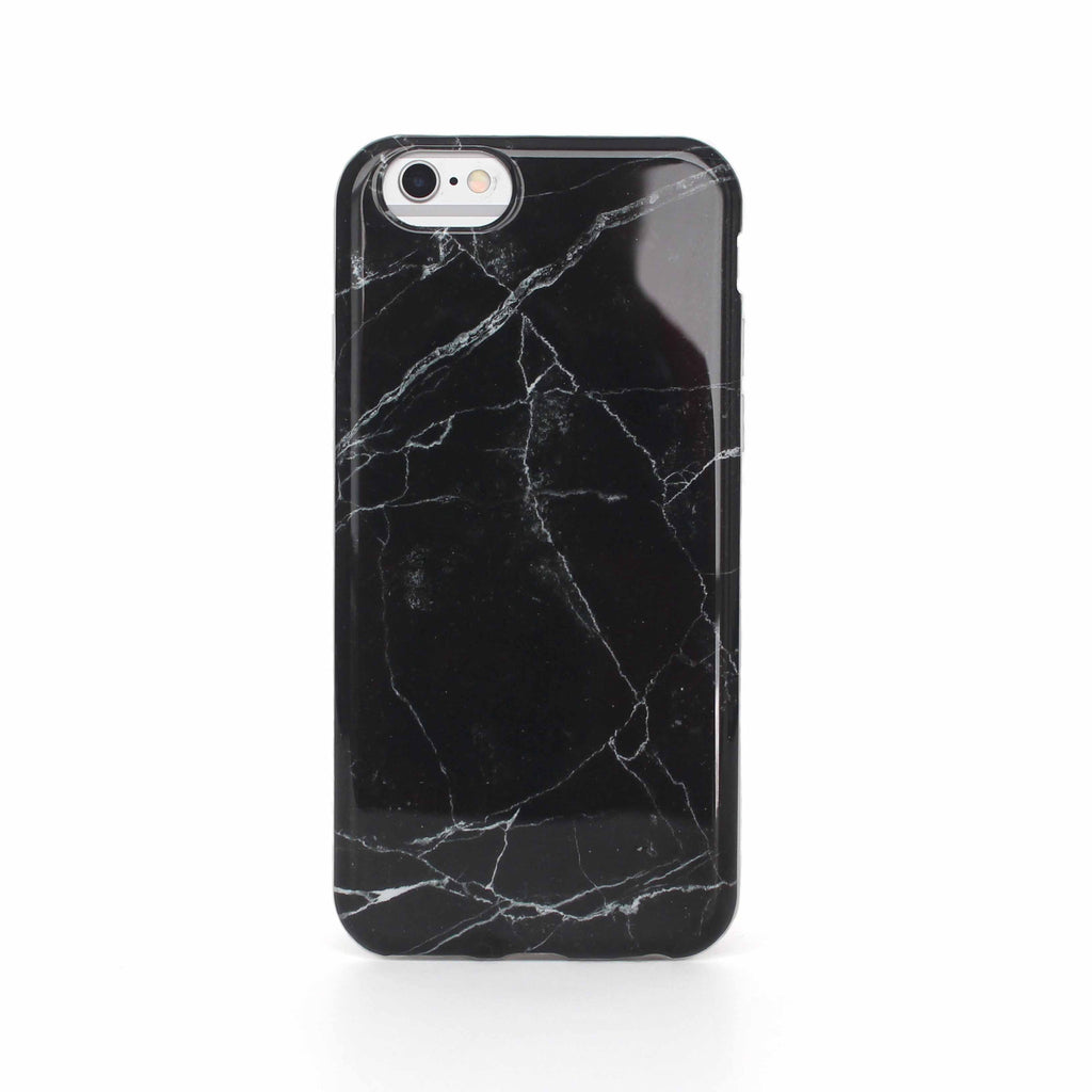 newest 7ade1 a763f Ultra-Lux Glossy Marble iPhone Case - Black